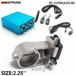 2.25 Exhaust Cutout Electric Control Valve Kit With Vacuum Pump w Remote Kit