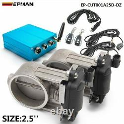 2.5 Exhaust Control 2 set Valve Dual Set w Remote Cutout Pipe Vacuum Pump Kit