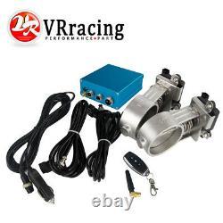 2pcs 3.0 76mm Vacuum Exhaust Cutout Electric Control Valve Kit With Vacuum Pump