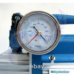 3S VACUUM PUMP with PRESSURE GAUGE SOLENOID VALVE 1.5 CFM 42 L/MIN REFRIGERATION