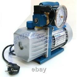 3S VACUUM PUMP with PRESSURE GAUGE SOLENOID VALVE for AIR CONDITIONING 2.5 CFM