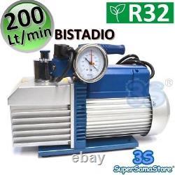 3s Vacuum Pump 7.0 Cfm R32 R1234yf Double Stage Pressure Gauge Solenoid Valve