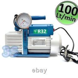 3s Vacuum Pump Gauge Solenoid Valve R32 Aircon 6 Cfm 2 Stage 1/3 HP 100 L/min