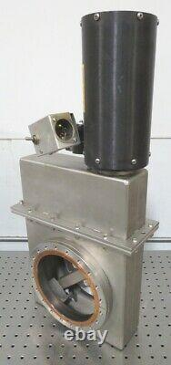 C166092 Varian 951-5206 Air-Operated Vacuum Gate Valve with 8 CF Conflat Flanges