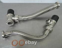 C177830 Lot 2 Varian L6591310 Air-Op Angle Vacuum Valve 2.75 CF Conflat Flanges