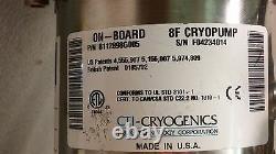 CTI Cryogenics 8112898G005 On-Board 8F RetroFast Cryopump with Roughing Valve