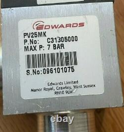 Edwards C31305000 7 Bar (Max) Right Angle Isolation Valve PV25MK 1.5 OD PV25MK