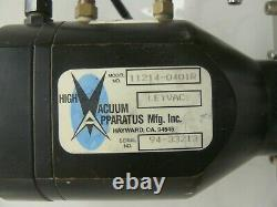 HVA high vacuum apparatus 4 ansi pneumatic gate valve