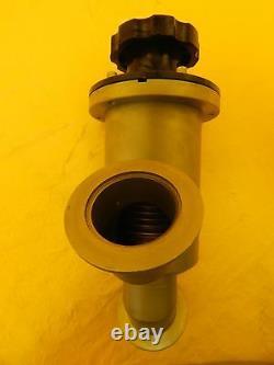 High Vacuum Research NW50 Manual Inline Valve Vacuum Shut-Off MKS Used Working