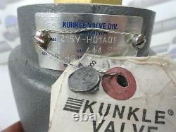 KUNKLE VALVE 215V-H01AQE 2 444SCFM, 29 HG, Vacuum Pump Safety Valve (NEW)
