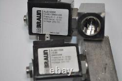 LOT of 2 MBraun Vacuum Pump Flow Valve with attachment # VA-90 / 2940C006