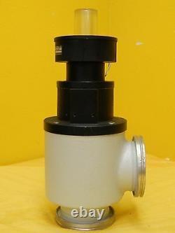 Leybold 287 25 B1 Right Angle Pneumatic Vacuum Valve ISO63 Used Working