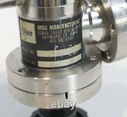 MDC 2.75 CF / DN40CF UHV Vacuum Gate Valve / Manual / Stainless 2-3/4 / Inline