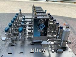 Mass Flow Controller Assembly O2 AR CHF3 CF4 CL2 BCL3 6ea MFC with Air Valve
