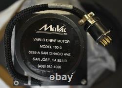 MeiVac VQ250ISOUSM VARI-Q High Vacuum Throttle Valve 10 Dia with 150-3 Motor