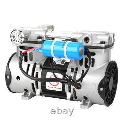 Motorized Ball Valve 220V 260W Oilless Piston Vacuum Pump 680mmHg/-90.6kpa