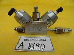 Motoyama SUSF316L 3-Way Diaphragm Valve Normally Open 10K-1/4 Used Working