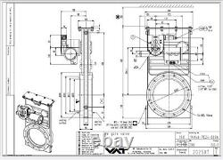 NEW VAT HIGH VACUUM PUMP GATE VALVE, ISO 200 FLANGE, P/N 14046-PE24-0006 Edwards
