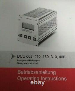 PFEIFFER VACUUM DCU 400 Turbo-Molecular Pump Display And Control Unit