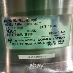 Shimadzu Turbo Molecular Pump TMP-4203LMC-T1 VAT Throttle Valve 65051-JH52-AKM1
