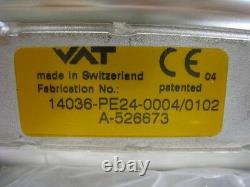 VAT, Gate Valve 14036-PE24-0004, ISO 63 Flanges, Looks New