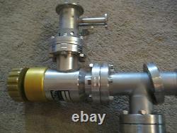 Varian Huntington Vacuum Valve Sieve Pump & Trap Unit # 0345-K011 & EV-100