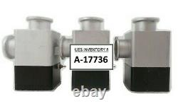 Varian L6281-703 Pneumatic Angle Valve NW-40-A/O Reseller Lot of 3 VSEA Working