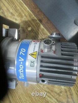 Varian V70 Turbo Pump. Model 9699357 with Vent Valve