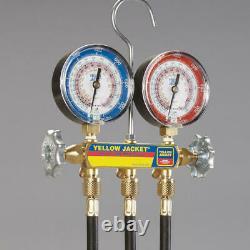 Yellow Jacket 42055 Heat Pump Manifold Set 60 Ball Valve Hoses R410A
